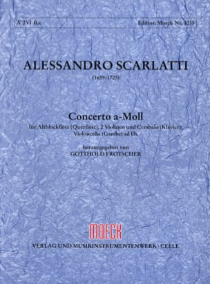 Concerto a-moll - Flauto dolce 2 violoni e bc - Partitur + Stimmen laflutedepan
