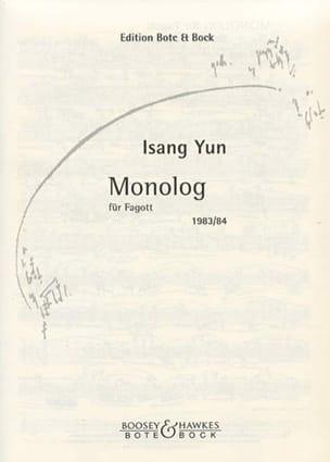 Monolog 1983/84 - Fagott Isang Yun Partition Basson - laflutedepan