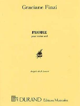 Phobie Graciane Finzi Partition Violon - laflutedepan