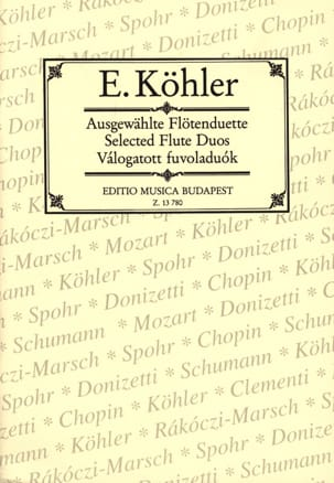 Ausgewählte Flötenduette - 2 Flöten Ernesto KÖHLER laflutedepan