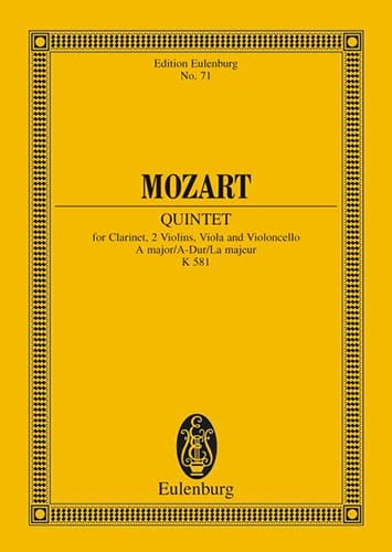 Quintett A-Dur Kv 581 la M. - MOZART - Partition - laflutedepan.com