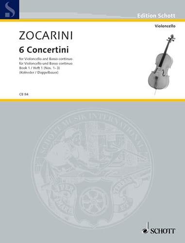 6 Concertini, Heft 1 n° 1-3 - Matteo Zocarini - laflutedepan.com