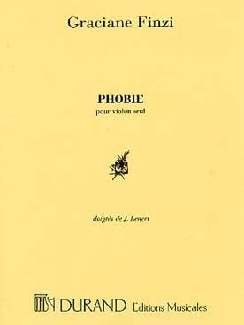 Phobie - Graciane Finzi - Partition - Violon - laflutedepan.com