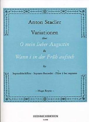 Variationen -Sopranblockflöte - Anton Stadler - laflutedepan.com