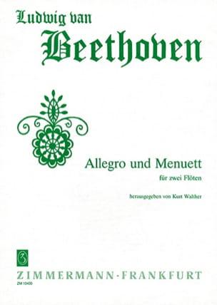 Allegro und Menuett - 2 Flöten BEETHOVEN Partition laflutedepan