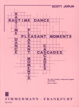 Ragtime dance - Pleasant moments - Cascades JOPLIN laflutedepan