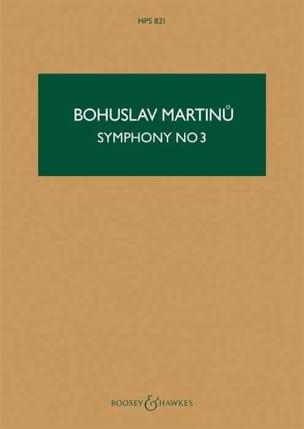 Symphonie n° 3 - Score MARTINU Partition Grand format - laflutedepan