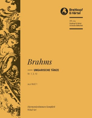 Ungarische Tänze, Nr. 1, 3, 10 BRAHMS Partition laflutedepan