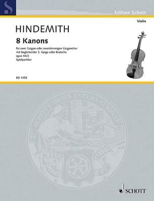 8 Kanons op. 44 - Schulwerk, Volume 2 HINDEMITH Partition laflutedepan