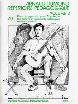 Répertoire Pédagogique Volume 2 Arnaud Dumond Partition laflutedepan