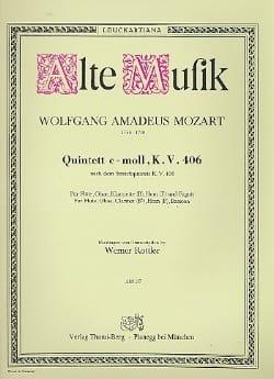 Quintett c-moll KV 406 -Bläserquintett - Stimmen MOZART laflutedepan