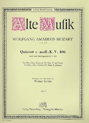 Quintett c-moll KV 406 -Bläserquintett - Stimmen - laflutedepan.com
