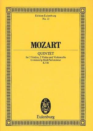 Quintette en Sol Mineur pour 2 Violons 2 Altos et Vcelle K 516 laflutedepan