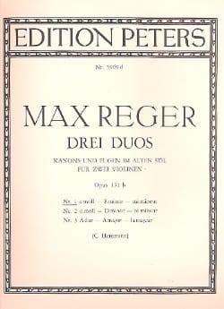 Duo op. 131b n° 1, mi mineur Max Reger Partition Violon - laflutedepan