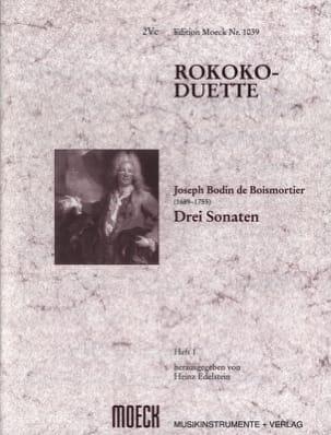 Rokoko-Duette, Heft I : 3 Sonaten BOISMORTIER Partition laflutedepan