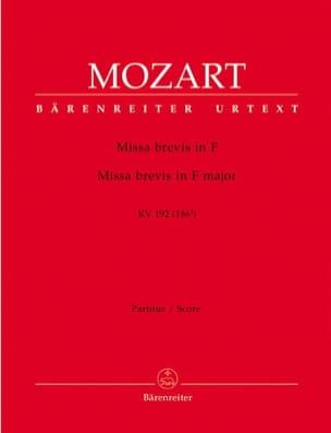 Missa brevis F-Dur KV 192 - Partitur MOZART Partition laflutedepan