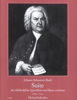 Suite für Altblockflöte BACH Partition Flûte à bec - laflutedepan