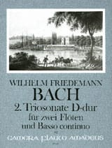 Triosonate Nr. 2 D-Dur - 2 Flöten Bc laflutedepan