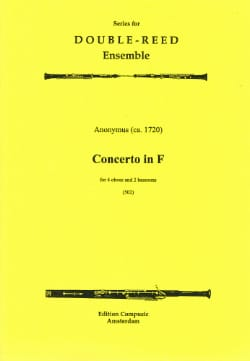 Concerto in F majeur -4 Oboes 2 bassoons - Score + parts laflutedepan