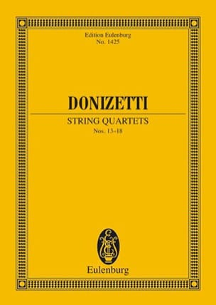 String Quartets N°13-18 DONIZETTI Partition laflutedepan