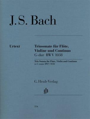 Sonate en trio en Sol majeur BWV 1038 pour flûte, violon et basse continue laflutedepan