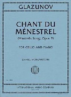 Alexandre Glazounov - Chant du Ménestrel, Op. 71 - Cello and Piano - Partition - di-arezzo.co.uk