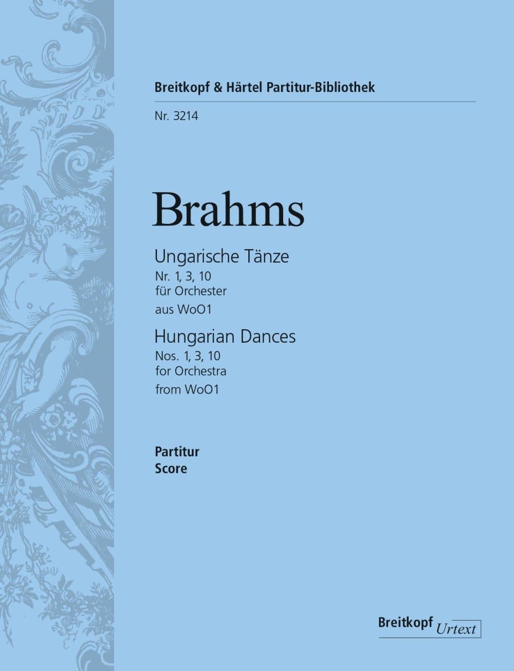 Ungarische Tänze, Nr. 1, 3, 10 - Orchester - BRAHMS - laflutedepan.com