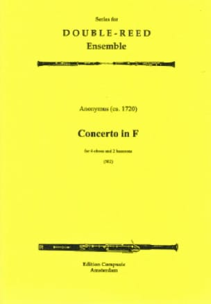 Concerto in F majeur -4 Oboes 2 bassoons - Score + parts - laflutedepan.com