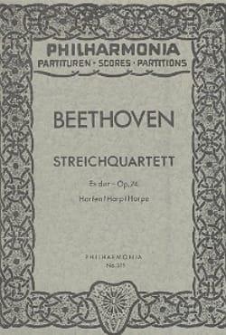 Streichquartett Es-Dur op. 74 - Partitur BEETHOVEN laflutedepan
