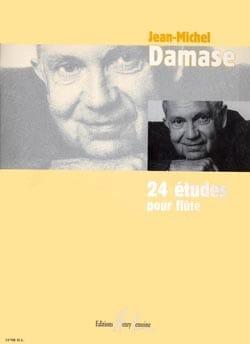 24 Etudes pour flûte Jean-Michel Damase Partition laflutedepan