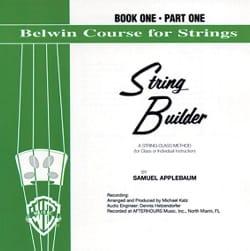 String Builder, Vol 1 / Partie 1- Violin CD - laflutedepan.com