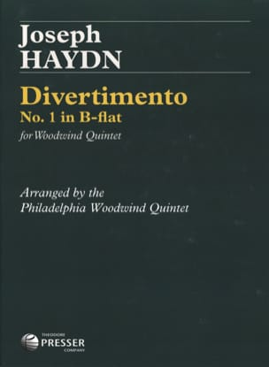 Divertimento n°1 in B Flat -Woodwind quintet - Score + parts laflutedepan