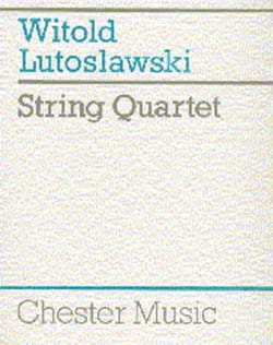 String Quartet - Score LUTOSLAWSKI Partition laflutedepan
