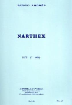 Narthex pour Flûte et Harpe Bernard Andrès Partition laflutedepan
