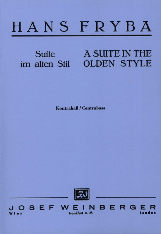 Suite in the olden style - Hans Fryba - Partition - laflutedepan.com