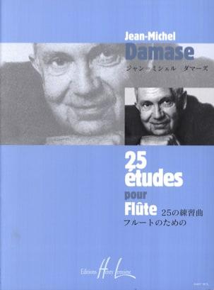 25 Etudes pour flûte Jean-Michel Damase Partition laflutedepan