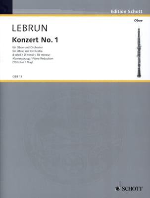 Concerto N°1 en Ré Mineur Ludwig August Lebrun Partition laflutedepan