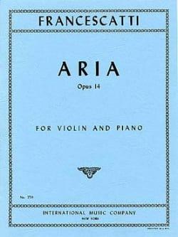 Aria op. 14 Zino Francescatti Partition Violon - laflutedepan