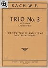 Trio n° 3 in A minor - 2 Flutes piano laflutedepan