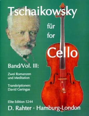 Tschaikowsky for Cello, Volume 3 TCHAIKOVSKY Partition laflutedepan