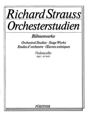 Orchesterstudien - Heft 1 Cello Richard Strauss Partition laflutedepan