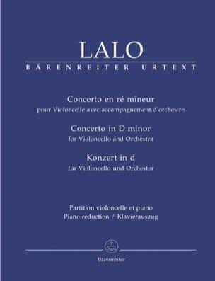Concerto en Ré Mineur LALO Partition Violoncelle - laflutedepan