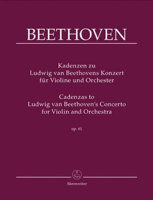 Cadences Sur le Concerto Op.61 De Beethoven BEETHOVEN laflutedepan
