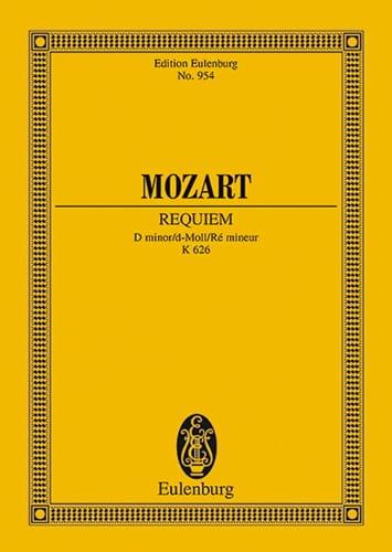 Requiem d-moll KV 626 - Conducteur - MOZART - laflutedepan.com
