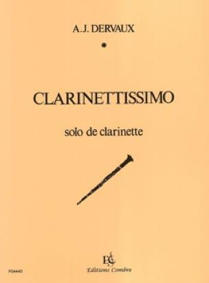 Clarinettissimo - André-Jean Dervaux - Partition - laflutedepan.com