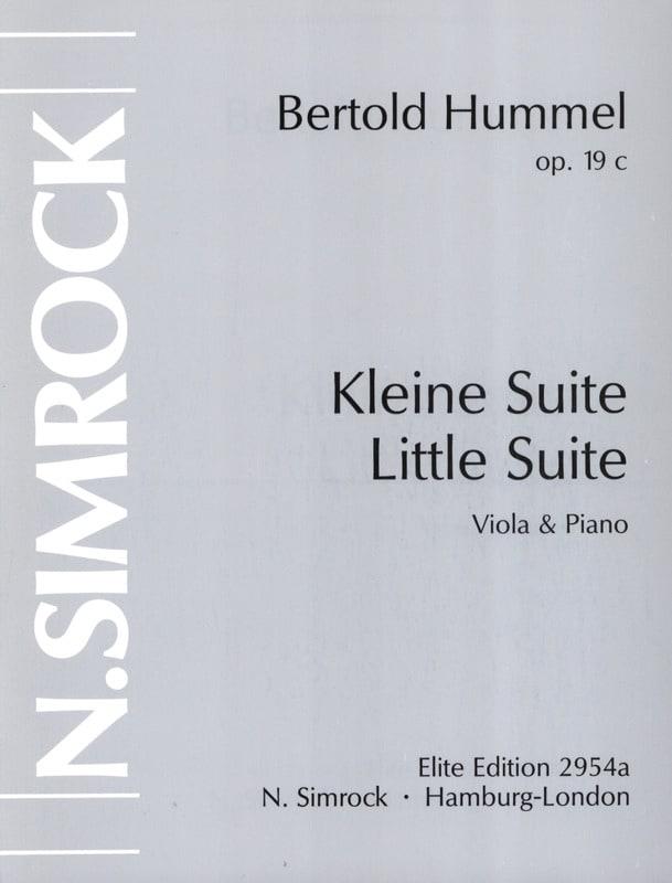 Petite suite op. 19c - HUMMEL - Partition - Alto - laflutedepan.com