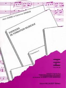Exercices de FM - Préparatoire 2 Alain Zarde Partition laflutedepan
