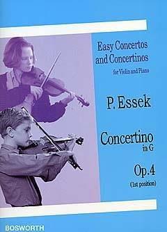 Concertino in G op. 4 - Paul Essek - Partition - laflutedepan.com