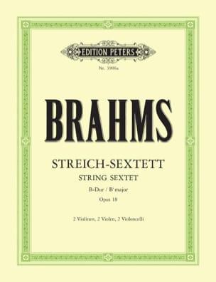 Streich-Sextett B-Dur op. 18 -Stimmen BRAHMS Partition laflutedepan