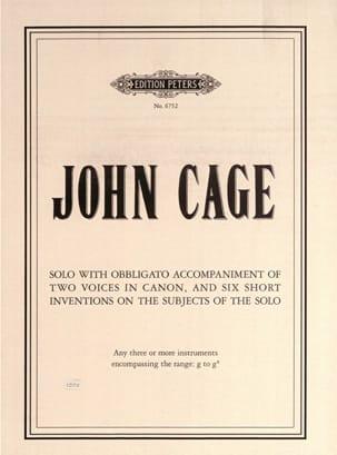 Solo with obbligato accompaniment... CAGE Partition laflutedepan